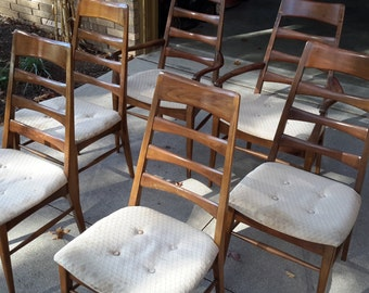 Mid Century Heywood Wakefield Set of Six Dinning Chairs