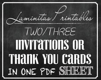 Two/Three invitations on a sheet or convert your file to PDF