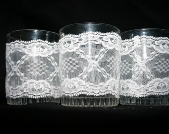 Lace Votive Holders (Set of 3)