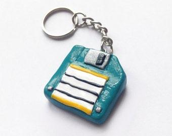 Floppy Disk Keyring