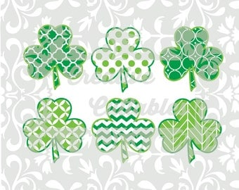 Shamrock SVG St. Patrick's Day Clover for  Silhouette or other craft cutters (.svg/.dxf/.eps)