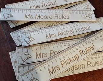 personalised teacher's rulers