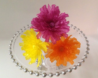 Edible Wafer Paper Dahlia for Cakes