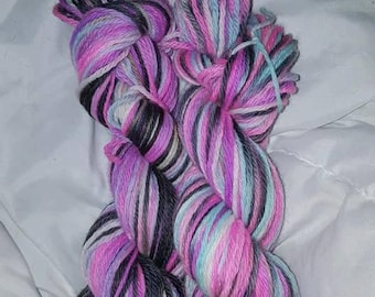 Hand dyed worsted weight wool