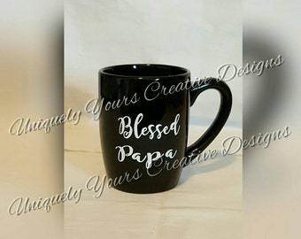 Dad Coffee Mug, Father's Day Gift, Gifts for Dads, New Father Gift, Coffee Tea Mug, Gift for Grandpa, Blessed Papa Mug, Pregnancy Reveal