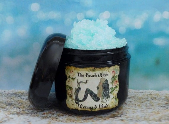 Mermaid Mud Sea Salt Body Scrub W Fragrant Oil Body