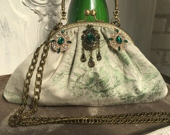 Bag evening bag, Dirndl, Bohemian, retro, vintage, bow bag, bag