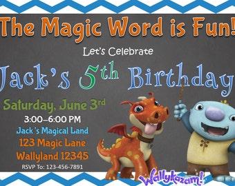 WallyKazam Birthday Invitation