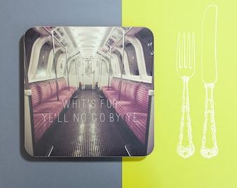 Banter Placemat - Empty Subway Car