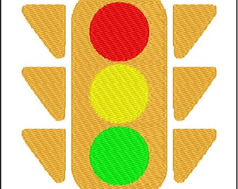 Traffic Light Embroidery Pattern Design
