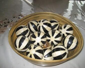 Black &  white Mosaic Balls