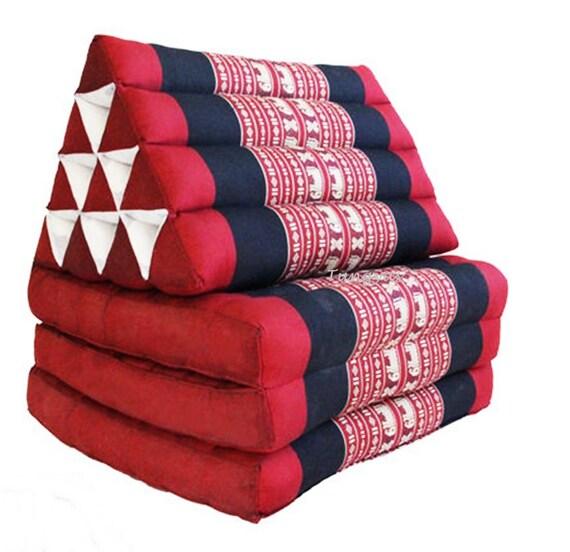 Traditional Thai Triangle Cushion : Thai triangle pillow Foldout Triangle Cushion 10 hole 3 fold