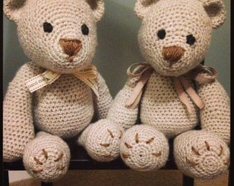 Vintage rustic ted with ribbon