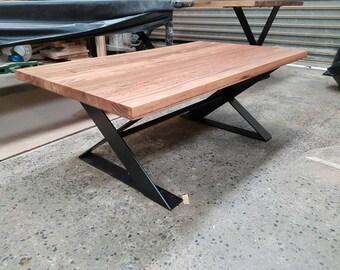 Steel x leg messmate table