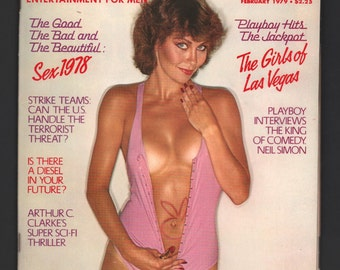 Mature Vintage Playboy Mens Girlie Pinup Magazine : February 1979 VG+ White Pages Intact Centerfold