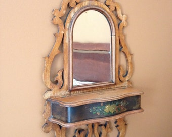 Antique Victorian Mirror with Storage