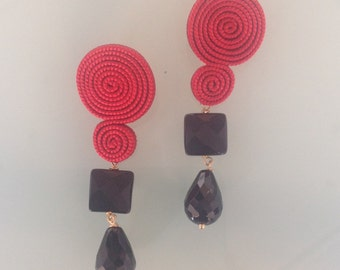 Essepiccola earring with two pendants