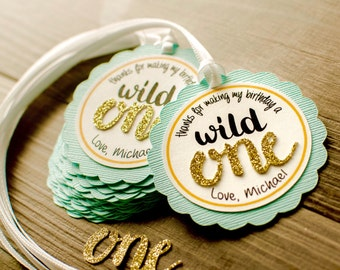 12 Wild One favor tags, wild one, one favor thank you tags