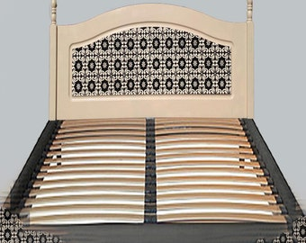 Double Bed Headboard. Bed Frame Not Included. Cream and Black