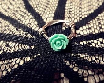 Rose Ring - Sea foam Green