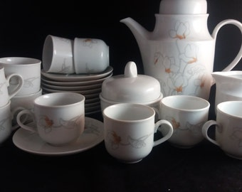 Colditz Porcelain Made in GDR Coffee Set