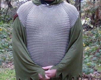 Chainmaille Midieval Renaissance Cosplay Shirt Hauberk