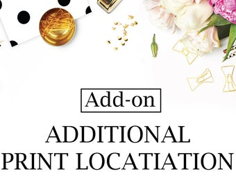Additional Apparel Print Location - Add On