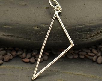 Sterling Silver, Silver Triangle Link,  Scalene Triangle, Silver Triangle Necklace, Triangle Pendant, Geometric Pendant, Silver Link Jewlery