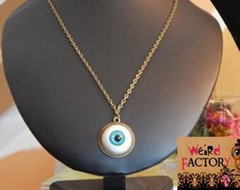 "Necklace ""See Through You"" Iris blue"