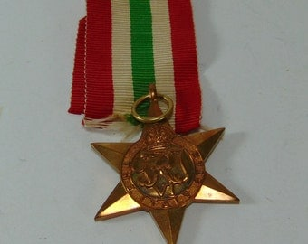 Vintage The Italy Star WW2 Medal