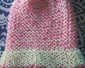 Sherbet Pink/Yellow Beanie