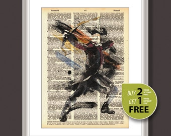 Vintage dictionary print, Vintage art print, Hawkeye print, Hawkeye Avengers movie poster, Hawkeye poster, wall hinging, birthday gift, 3611