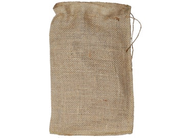 """8"""" X 12""""  Burlap Bags with Drawstring - Lot of 25"""