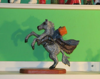 The Headless Horseman Wood Carving