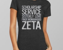 Silver Foil Zeta Phi Beta Sorority T-Shirt