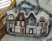 The Dutch Townhouses bag & iPhone cosy© - PAPER pattern by Malgorzata Joanna Jenek