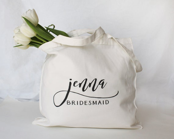 Personalized Bridesmaid Tote