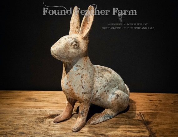 Antique Iron Hubley Rabbit from the 1960's