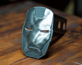Iron Man - War Machine Trailer Hitch Cover - 3D - Steel and Stainless Steel - Powder Coated