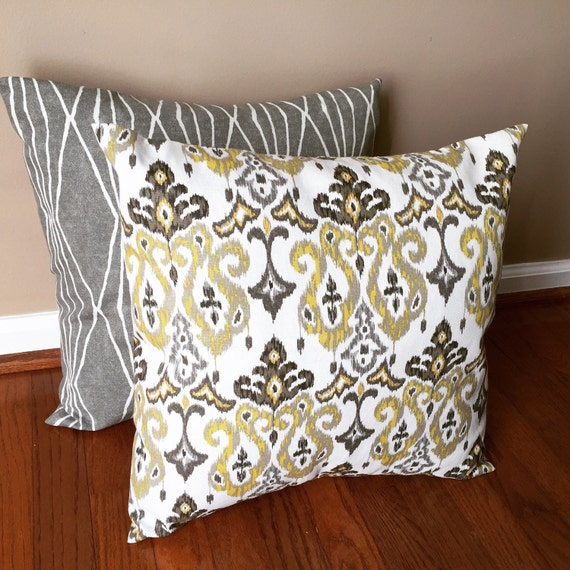 Items similar to Washable decorative throw pillow cover. Slip on/envelope pillow cover. Yellow ...