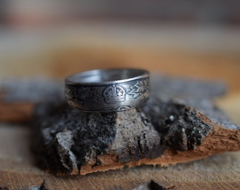 Coin Ring - US Size 12 - 1929 Canada 50 Cents