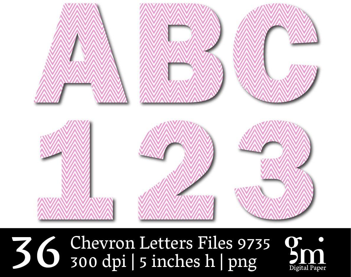 printable chevron letters
