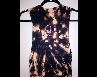 kids dancewear neon tye dye peace t-shirt comes in 7-8yrs