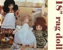 "Linda Carr Rag Doll Pattern VOGUE Doll Collection P618 UNCUT Cloth Doll Pattern Designer Doll Pattern Country Doll Clothes Pattern 18"" Doll"