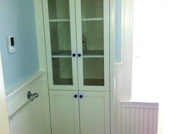 Tall bath cabinet