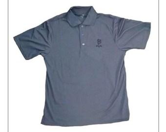 Buddy Rich Apparel BR Shield Polo collared short sleave grey Shirt