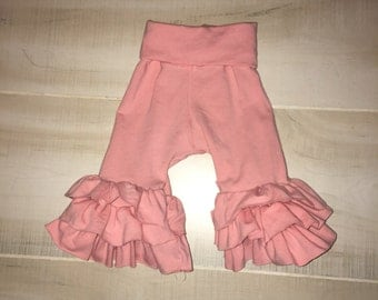 Ruffle pants, baby girl ruffle pants, toddler girl ruffle pants, triple ruffle pants, ruffle pants, all colors