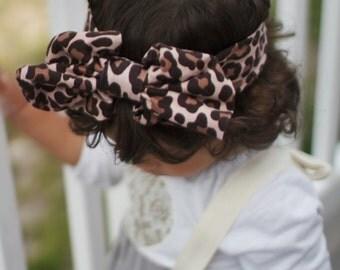Leopard headband, newborn headband, baby headband, cheetah head wrap, animal print, baby girl headband, leopard print, infant photo prop