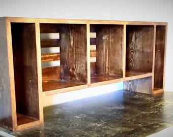Bookcase - Desktop Bookshelf - Solid Wood Bookcase -