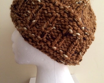 Copper Tweed Winter Beanie